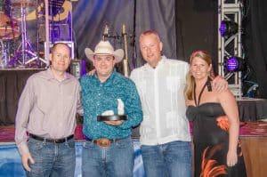 Winner: Top Sales In The USA (Medium Market) – Ed, Waylon & Christine From Devaders Pools & Spas, Topeka, Kansas