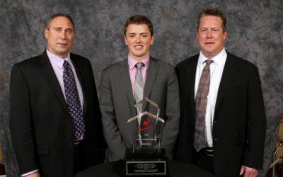 Dennis Kellner presents WHL Humanitarian of the Year Award!