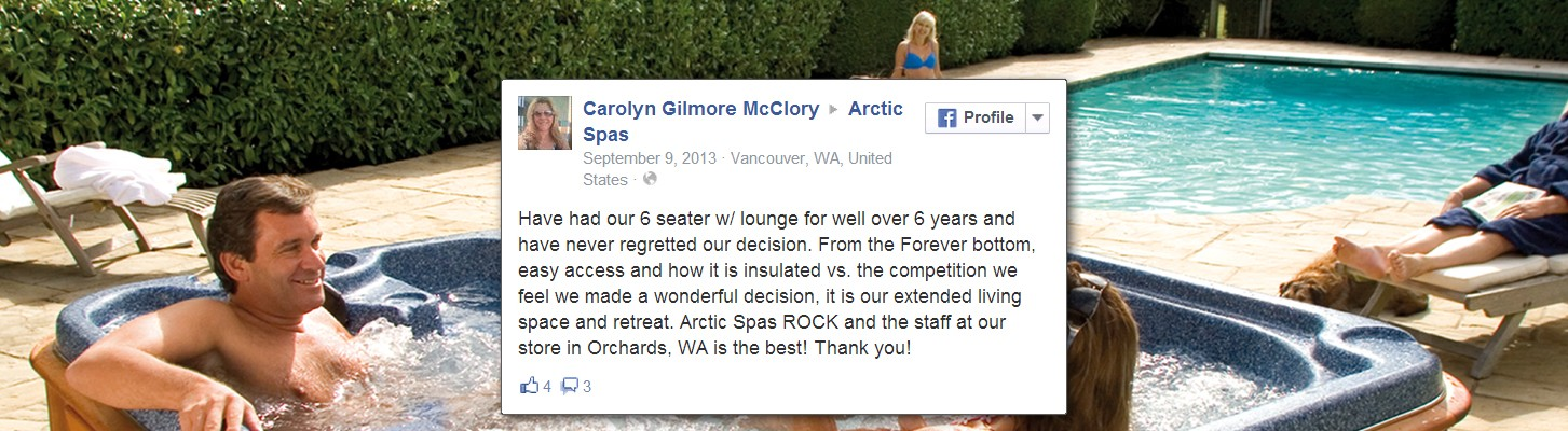 The Third Arctic Spas Testimonial