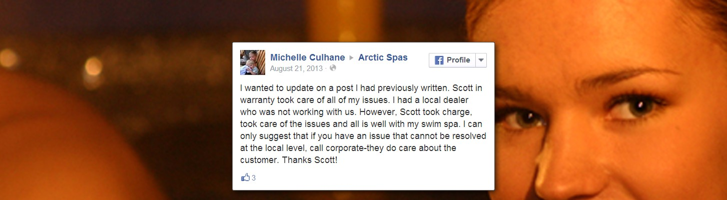 The Fourth Arctic Spas Testimonial