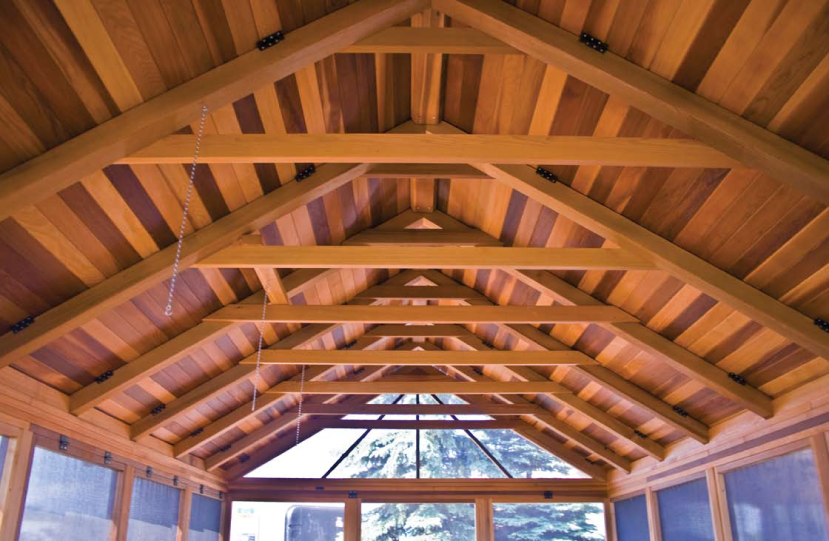 Hot tub gazebo beach house inside ceiling