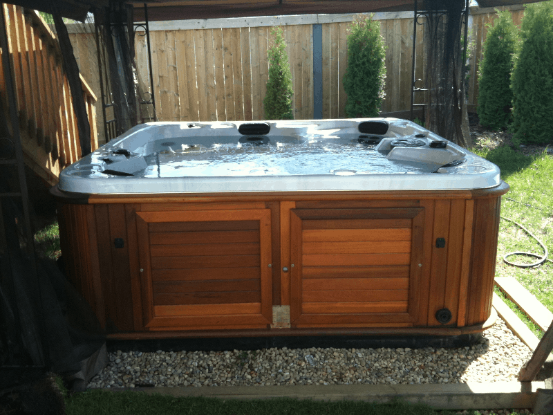 Swim spa garden patio arctic spas Hot tubs tulsa